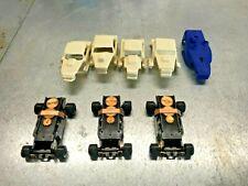 AURORA T-JET, HO SLOT CAR CHASSIS LOT,HO SLOT CAR,T-JET.PARTS,T-JET CHASSIS,DASH
