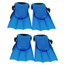 2 Pairs Unisex Swimming Learing Fins Foot Flippers Fit for Snorkeling Blue