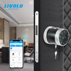 LIVOLO Security Smart Key Door Lock,Fingerprint App Control Single Tongue