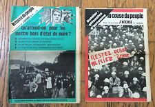 LA CAUSE DU PEUPLE - J'ACCUSE n°31 & 32/ 2 numéros 1972 gauchisme