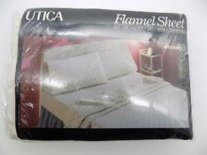 Vintage Utica Flannel Sheet Ardennes Pattern 1984 J. P. Stevens NOS Twin Size