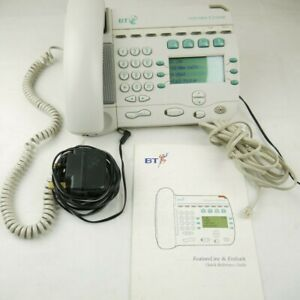 BT Featureline Compact MK I Phone +cable and power supply+ user guide + Free P&P