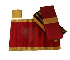 Tablemat Set of Four - Deep Red and Gold