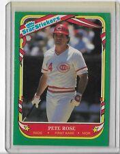 1987 FLEER PETE ROSE STAR STICKER # 102 CINCINNATI REDS