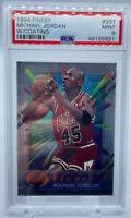 1994-95 Topps Finest #331 Michael Jordan Bulls HOF w/ Coating PSA 9 MINT