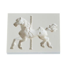 Christmas Carousel Horse Silicone Fondant Cake Mold Emboss Cutters Sugar Hot
