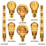 Retro Vintage LED Unique GLASS TREE Filament Edison Style Light Bulb B22 or E27