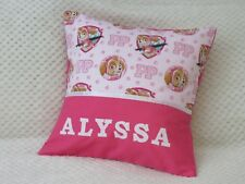 PAW PATROL (PINK) Girls Personalised Character Cushion Cover / GIFT IDEA
