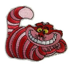 Cheshire Cat Character Alice Movie Iron On Patch Sew on Embroidered New