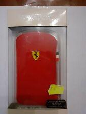 Cover Ferrari universale in nabuk rossa con cavallino compatibile con iPhone 3-4
