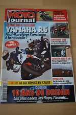 MOTO JOURNAL N°1792 YAMAHA YZF R6 SUZUKI GSF 650 S BANDIT HONDA CBF 600 ABS 2008