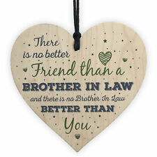 Gifts For Brother In Law Birthday Card Heart Plaque Friendship Men