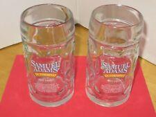 Sam Adams Octoberfest Beer Mugs (2) 16oz. Collectible  Barware Advertising