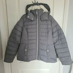 Abercrombie And Fitch Grey Puffer Jacket Coat Size Extra Large XL 14