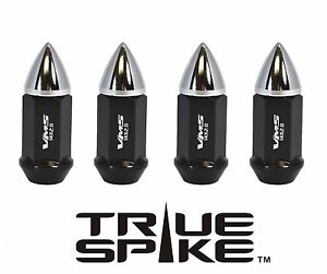 """20 TRUE SPIKE 60MM 1/2"""" STEEL EXTENDED LUG NUTS W/ CHROME FOR FORD LINCOLN"""