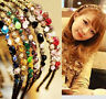 Women Elegant Metal Rhinestone Head Chain Jewelry Headband Head Piece Hair Band