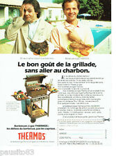 PUBLICITE ADVERTISING 036  1989  Thermos  barbecues à gaz