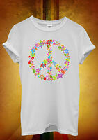 Peace Sign Flower Summer Cool Hipster Men Women Unisex T Shirt Tank Top Vest 449