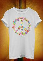 Peace Sign Flower Summer Cool Hipster Men Women Unisex T Shirt Tank Top Vest 449