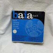 Vintage Baia Dual 8 200 ft Capacity Reel & Storage Plastic Case