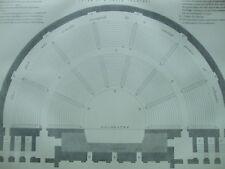 ANTIQUE PRINT C1870'S GREEK ARCHITECTURE ENGRAVING PLAN OF A GREEK THEATRE ART