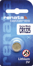 10 x Renata CR1225 Watch Batteries, Lithium, Swiss Made , 1225