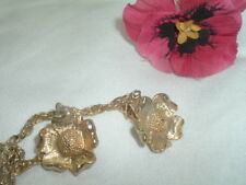 VINTAGE DOGWOOD FLOWER GOLDTONE SWEATER GUARD IN GIFT BOX