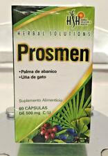 PROSMEN  Herbal Solution's Health 60 CAPSULAS CAPSULES500mg each DE MEXICO!