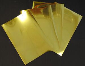 Gold Metallic Glossy Inkjet Printable Adhesive Film 5 A4 Sheets 100 Micron