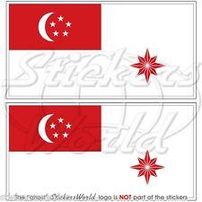 Singapur marine flagge Kriegsflagge fahne 75mm vinyl sticker aufkleber x2