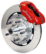 "WILWOOD DISC BRAKE KIT,FRONT,64-74 GM,12"" ROTORS,RED CALIPERS,CHEVY,OLDSMOBILE"