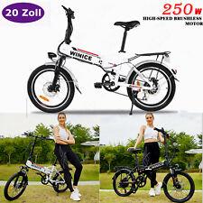 E-BIKE Elektrofahrrad 20 Zoll Mountainbike Faltrad 250W Motor E-City Bike E-MTB