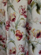 """Laura Ashley Curtains  Gosford Tulips Paprika  51% LINEN  LINED W103"""" L60"""" VGC"""