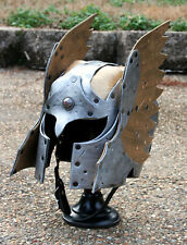 *RTS* Silver Bronze Elven Hawk Winged Leather Helmet Fantasy Armor LARP medieval