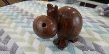 Vintage Carved Wood Hippopotamus (lot#322)