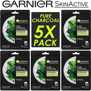 Garnier Skin Active Hydrating Pure Charcoal Black Purifying Tissue Face Mask UK
