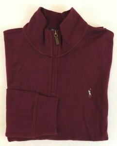 Polo Ralph Lauren 1/2 Half Zip Estate Rib Pony Mockneck Classic Fit Sweater M