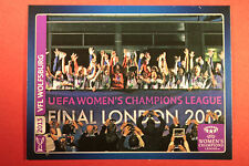 PANINI CHAMPIONS LEAGUE 2013/14 N 628 WOLFSBURG WOMEN'S WINNERS BLACK BACK MINT!