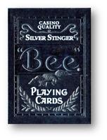 Bee Plata Stinger Jugando a las Cartas By USPCC Póquer Juego de Cartas Cardistry