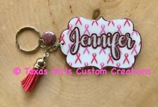 Personalized Breast Cancer Awareness Acrylic Keychain Cancer Survivor Gift