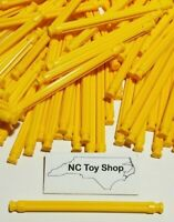 "100 KNEX Yellow Rods 3-7/16"" Bulk Standard Lot Replacement Parts Pieces K'NEX"