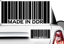1x ADESIVO CODICE A BARRE made in DDR JDM Oldschool TUNING Shocker Germania orientale ret