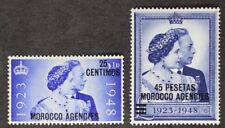 MOROCCO AGENCIES 1948 GVI SILVER WEDDING MINT NH (Lot#3)