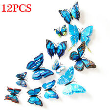 12pcs 3D Butterfly Design Decal Art Wall Stickers Room Magnetic Home Decor New