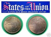 MARYLAND - Franklin Mint Beautiful Solid Bronze State Coin, Uncirculated