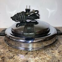 Vintage Toastmaster Waffle Maker Iron Round Chrome Silver