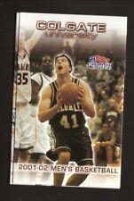 Colgate Raiders--2001-02 Basketball Pocket Schedule--Photos Unlimited
