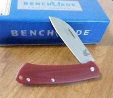 BENCHMADE New 319-1 Burgundy G-10 Proper Plain Edge S30V Blade Knife/Knives