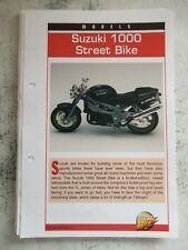 SUZUKI 1000 STREET BIKE collector file fact sheet.