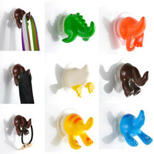 6pcs Animal Tails Hooks Hanger Bathroom Kitchen Shower Cloth Towel Suction Cup